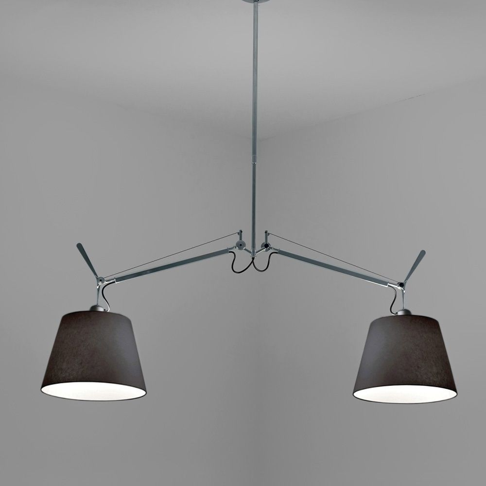 Tolomeo Double Shade Black Fabric Suspension Artemide Lighting Allmodernoutlet Fabric Shades Tolomeo Lamp Pendant Light