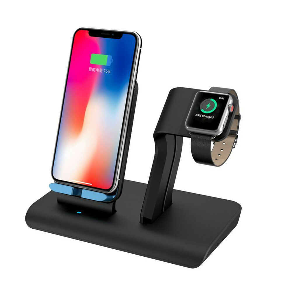 2in1 10w Qi Wireless Fast Charger Holder Stand For Apple Watch Iphone8 X Samsung Applewatch Applewatch Apple Watch Apple Watch Stand Iphone Charging Station