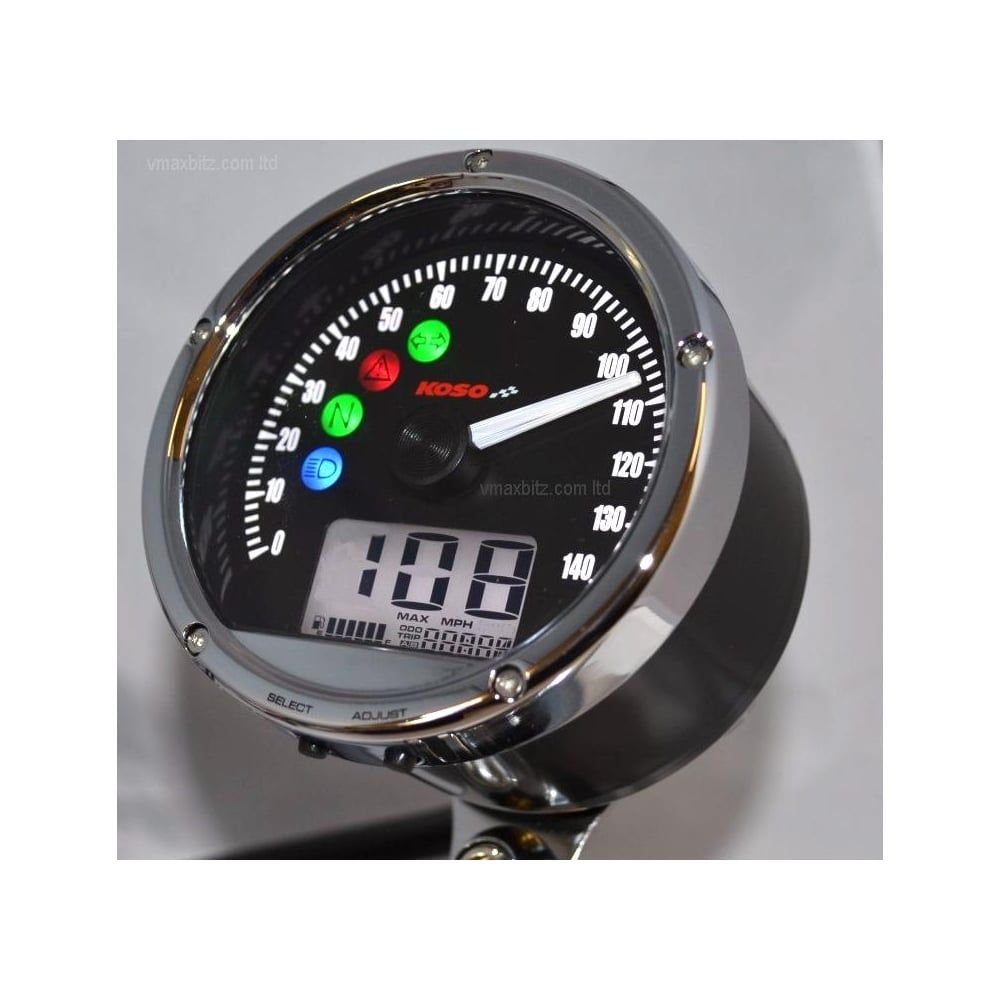 Koso UK, CRB01s Speedometer, TNT01s with warning lights