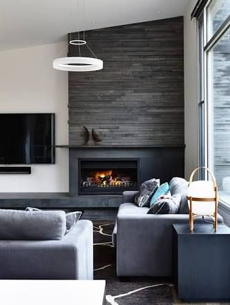 Image Result For Fireplace Next To Tv Contemporary Fireplace Contemporary Living Room Design Living Room With Fireplace