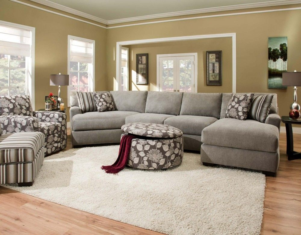 corinthian Josephine 3 Piece Sectional with Chaise & Cuddler - Josephine 3 Piece Sectional Cor-29a-3 Piece Sectionals That
