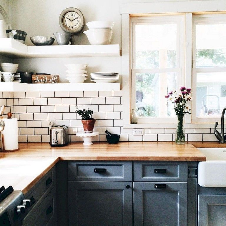 55 Beautiful Farmhouse Kitchen Backsplash Decor Ideas Page 40 Of 57 Old Farmhouse Kitchen Kitchen Design Kitchen Remodel