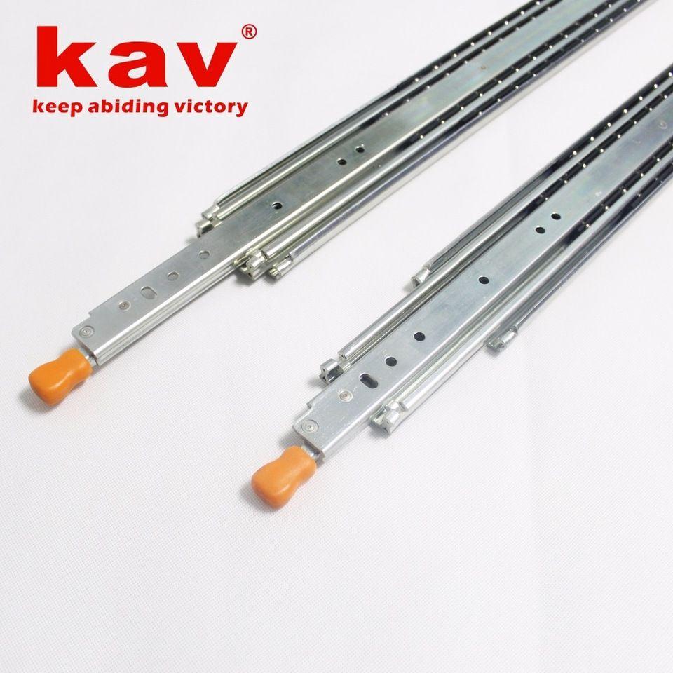 220kgs Heavy Duty Drawer Slide Locking Full Extension Ball Bearing