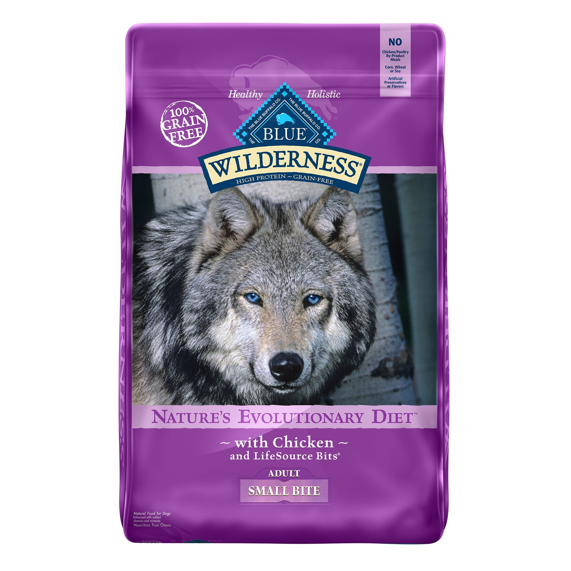 Blue Buffalo Wilderness Small Bites Adult Dog Food Grain Free