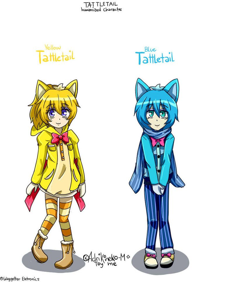 Yellow Tattletail And Blue Tattletail Design Human By