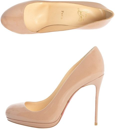 9c5fa6653dd Christian Louboutin - Filo 120mm Patent Pumps in Beige (nude) - Lyst. the  perfect