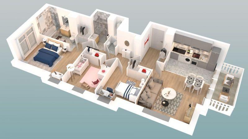 Place quintovic au touquet appartement t4 de 74m2 loi carrez au 2e étage