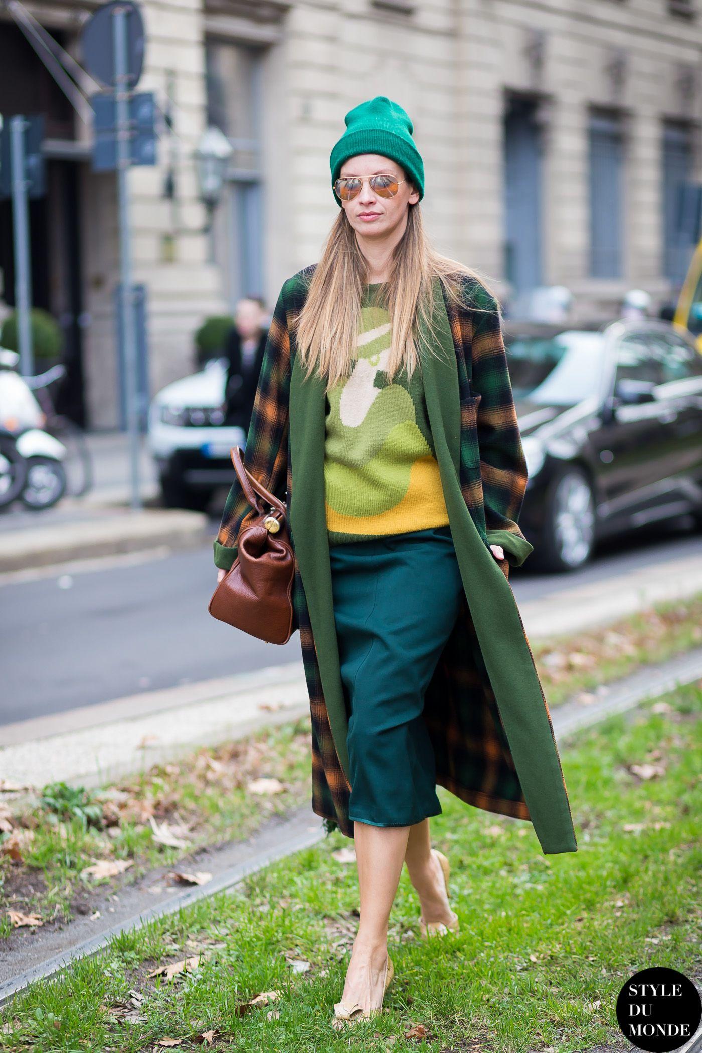 Milan Men's FW15 Street Style: Clara Racz - STYLE DU MONDE | Street Style Street Fashion Photos