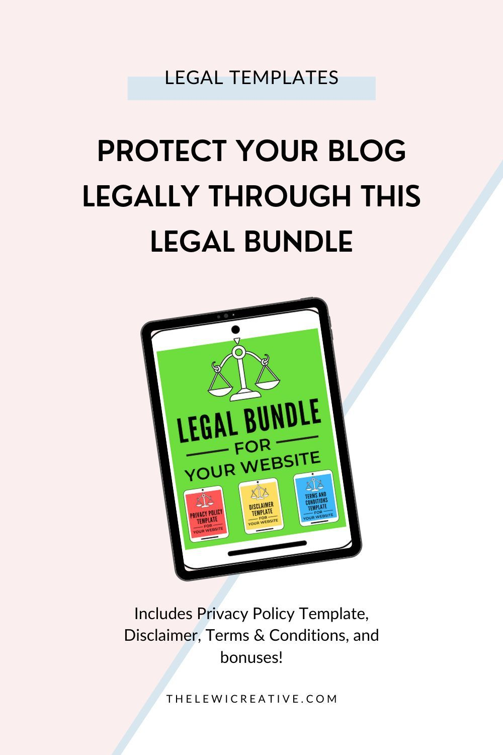 Protect Your Blog Legally Through This Legal Bundle In 2020 Earn Money Blogging Blogging Tips Business Blog