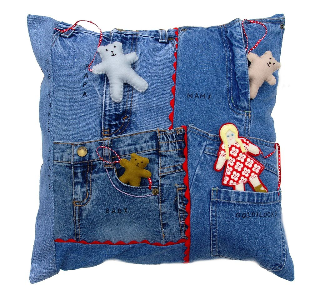 Upcycled Denim Pillow Play, a tutorial