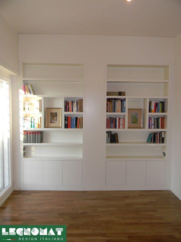 Libreria Moderna Laccata Bianca.Libreria Moderna Laccata Bianca Idee Per La Casa
