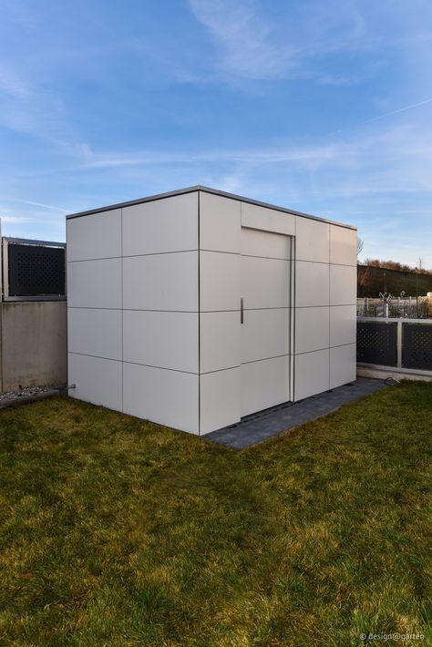 gartenhaus mit hpl by design garten gartenhaus shed ger tehaus flachdach hpl garden. Black Bedroom Furniture Sets. Home Design Ideas