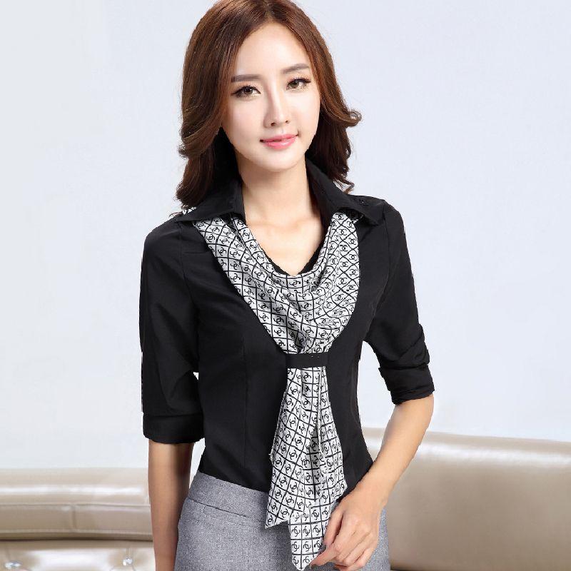 Moda lacing mulheres de carreira camisa básica fino de manga longa plus size mulheres ol colarinho branco em Blusas de Roupas e Acessórios no AliExpress.com | Alibaba Group