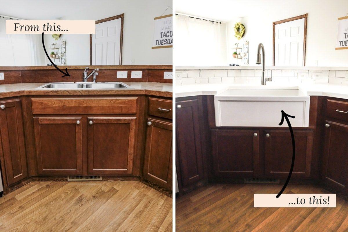 DIY Farmhouse Sink Installation Kitchen remodel, Sink