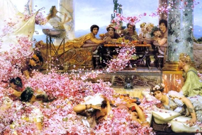 Sir Lawrence Alma-Tadema: The Roses of Heliogabalus by Sir Lawrence Alma-Tadema - Hand Painted Oil Painting.  Sir...