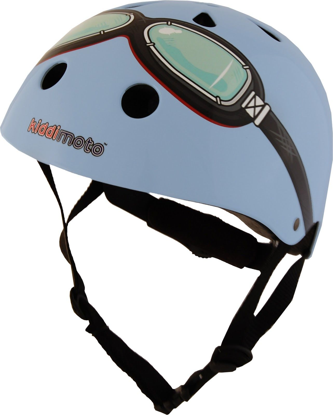 BLUE riding goggle kidimoto helmet t wrapped & delivered cool