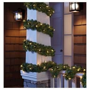 Philips 20ft Pre Lit Garland Clear Branch Target Hanging Christmas Lights Christmas Lights Decorating With Christmas Lights