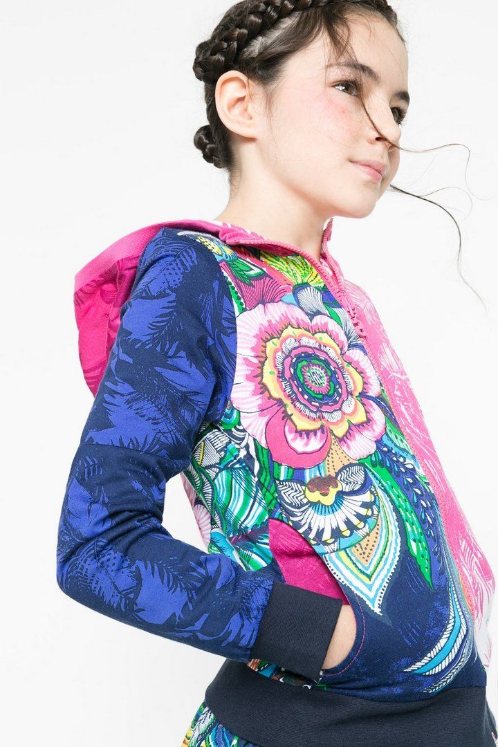 Omkeerbaar gebloemd sweatshirt voor meisjes | Desigual.com