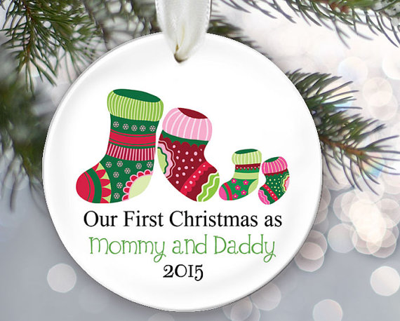 TWINS New Parents Ornament Our first Christmas as Mommy & Daddy ...