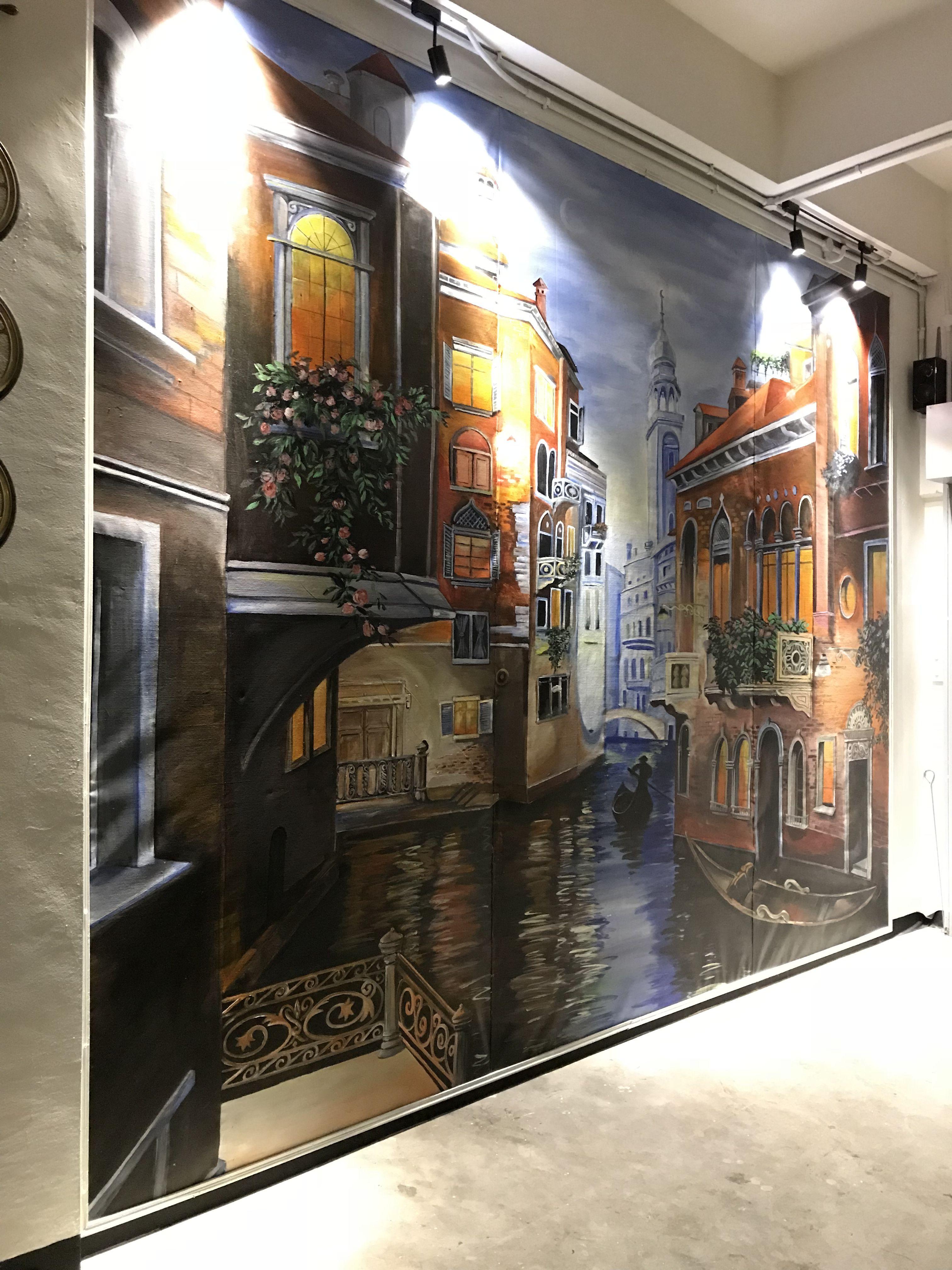 Mural Scenery Of Paris City Mural Art Ventures