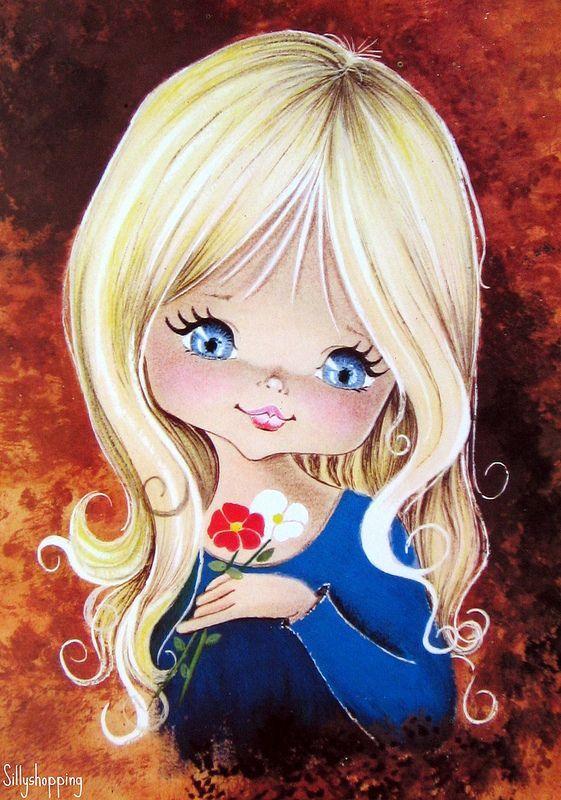 Милой девочке открытка, гиф днем рождения