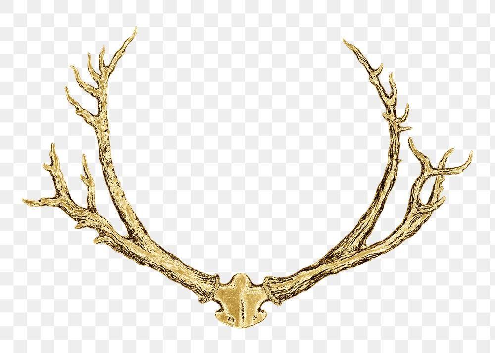 Vintage Gold Deer Antlers Design Element Free Image By Rawpixel Com Nap Gold Deer Antler Design Antler Art