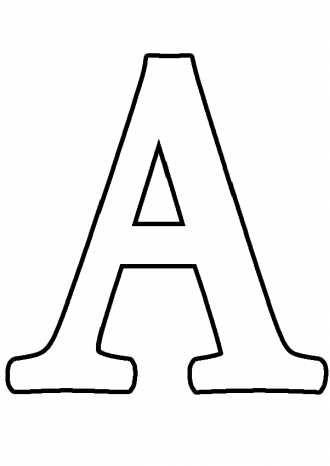 буква А большая, учим буквы, раскраски   Алфавит трафареты ...