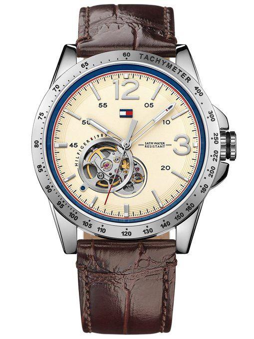 0666ed0ecb6d Tommy Hilfiger casual Sport hombre-reloj analógico de cuarzo de cuero  1791254