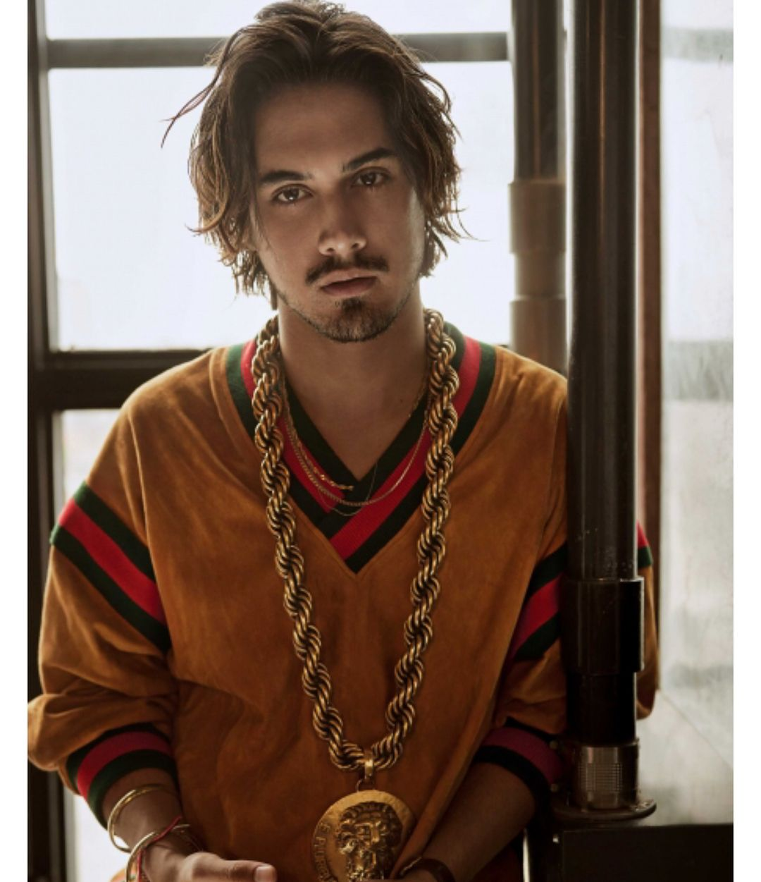 Avan Jogia On Instagram Gucci X Dapperdanharlem For Elleindiaofficial Text Writer Nevillebhandar Long Hair Styles Men Hair And Beard Styles Avan Jogia