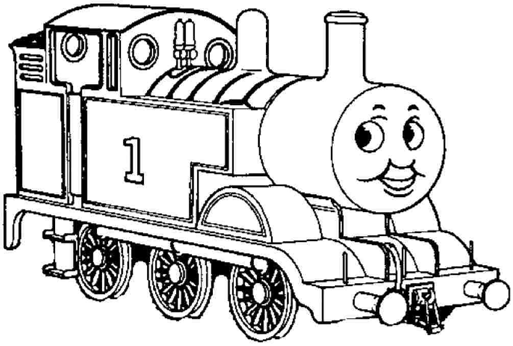 Coloring pages cartoon thomas the tank engine free for Thomas the train color page