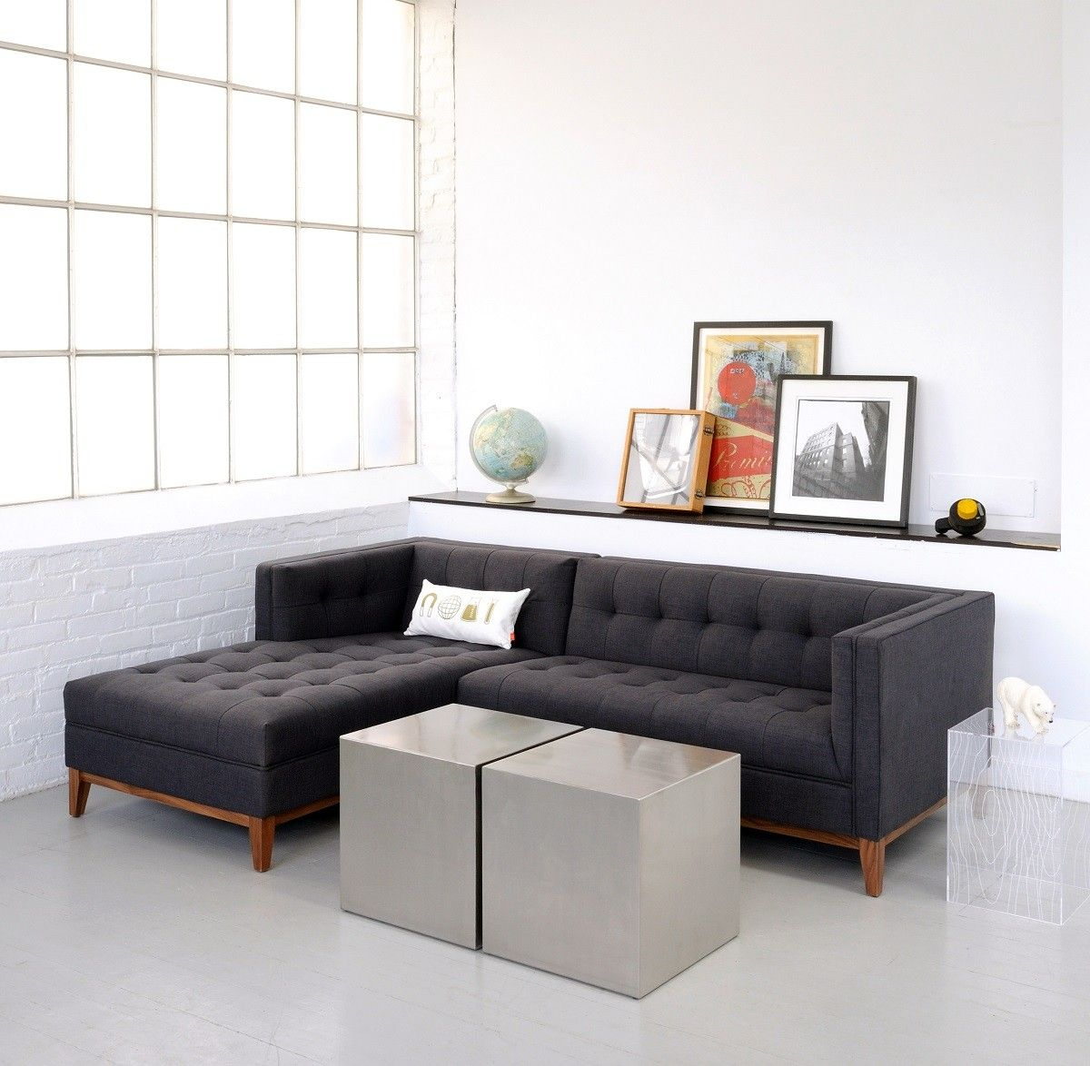 Gus Modern Atwood Sectional Sofa The Atwood Sectional Sofa Is Clean Lined Tailored Design Living Room Designs Apartment Size Furniture Sofas For Small Spaces