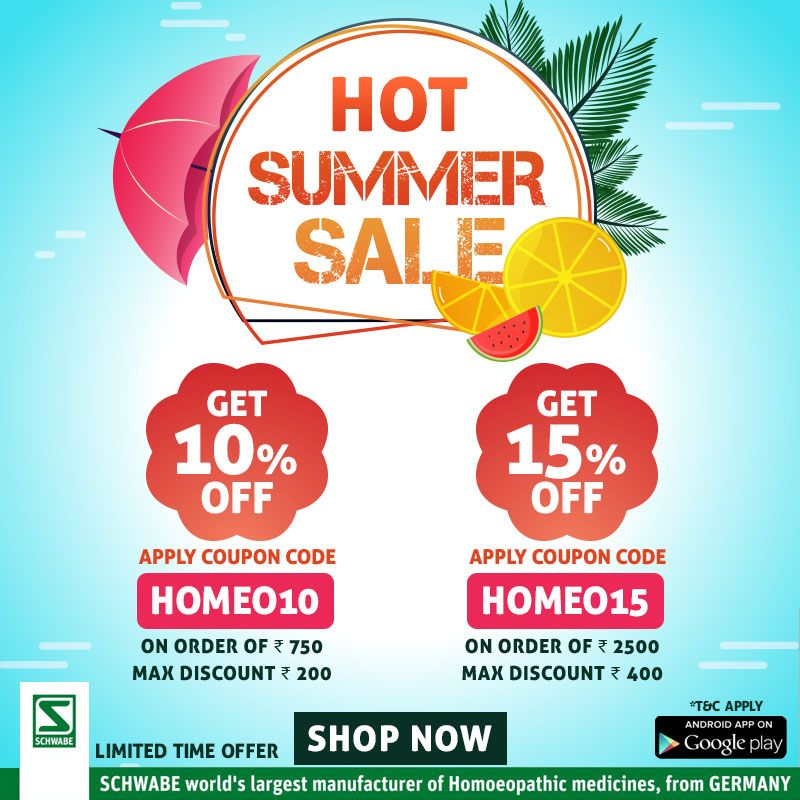 Schwabe India HotSummerSale is on. Grab the opportunity