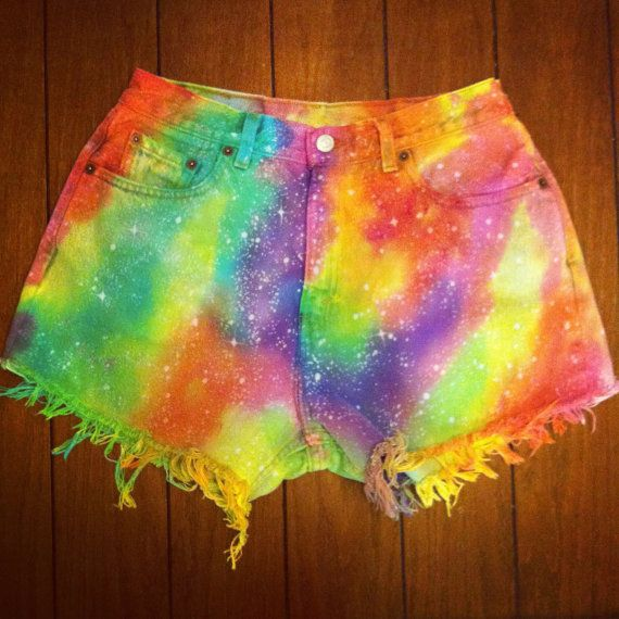 Colorful Galaxy Shorts by namesdollface on Etsy, $45.00
