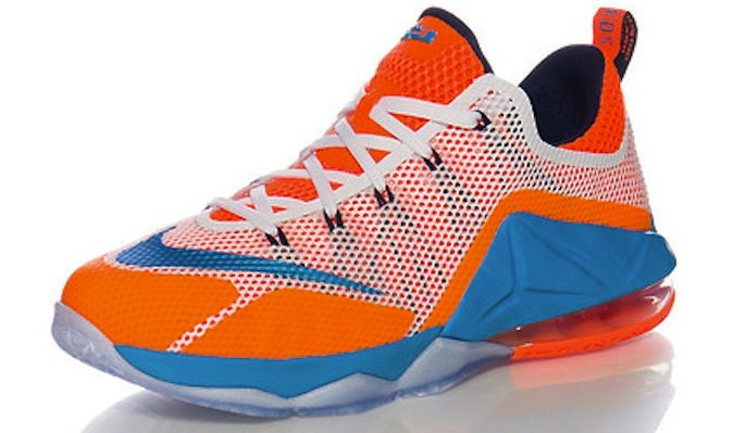 promo code 41e7c 1f1f9 Nike LeBron 12 Low GS Orange Blue White - Sneaker Bar Detroit