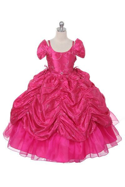 ccad915b95904 Rain Kids Big Girls Taffeta Sequin Pickup Pageant Dress | Edens ...