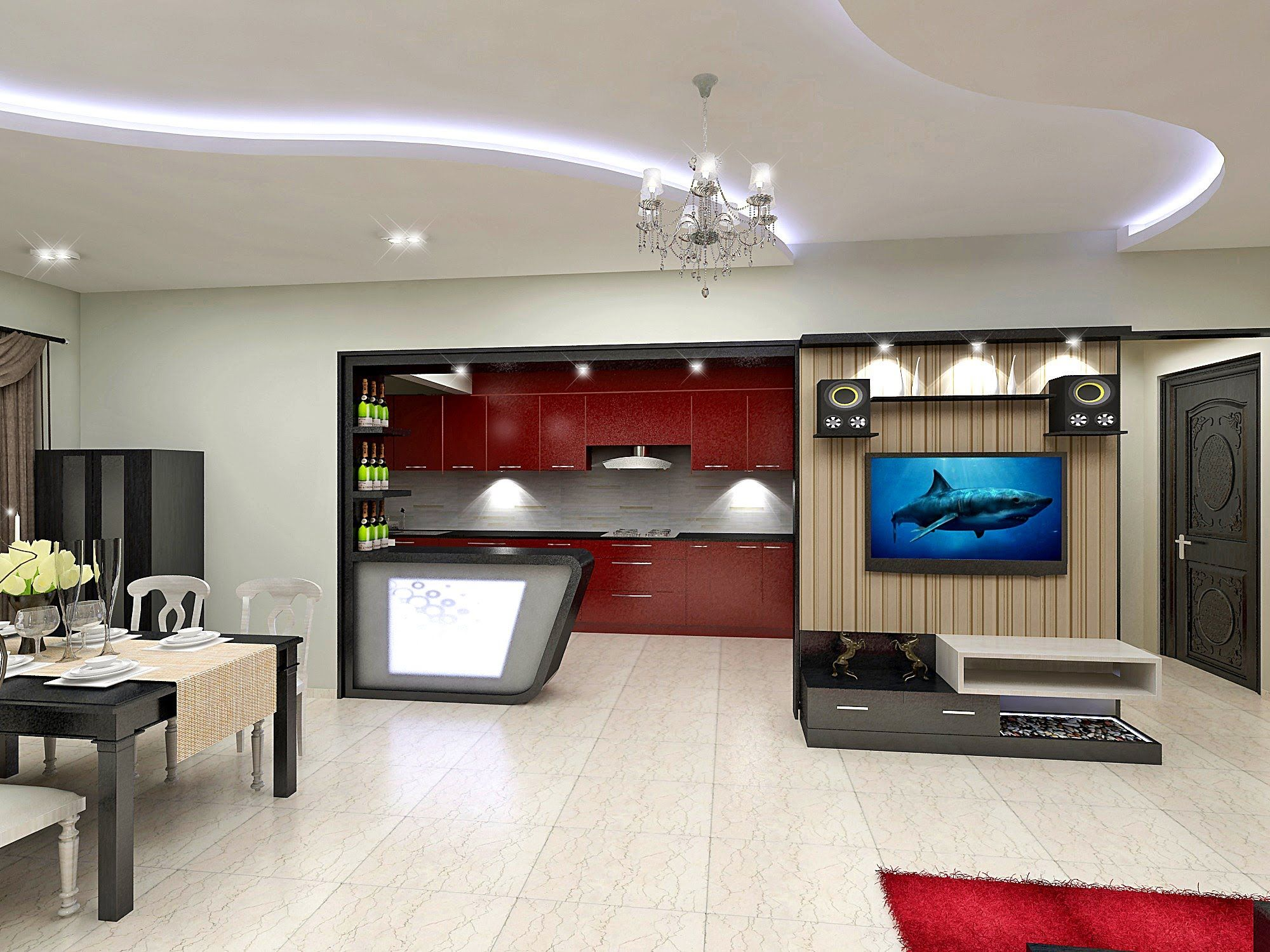 Mr Manna 2bhk Flat Interiors Update 1 Work At Salarpuria Greenage Flat Interior Design Flat Interior Interior Design