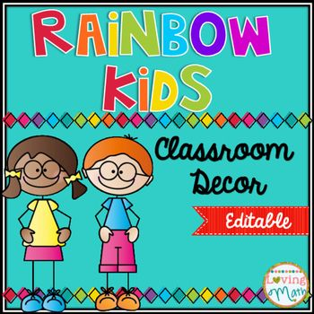 This editable classroom pack includes everything you need to decorate your rainbow themed classroom. Everything included in this pack is…