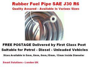 4 mm x 11 mm SAE J30 R6 Reinforced Rubber Hose Flexible Pipe Tube Fuel Petrol Oil Diesel