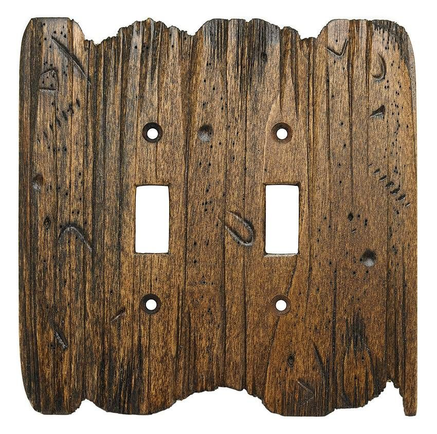 Old West Wood Switch Plate In Color Charred Timber Www