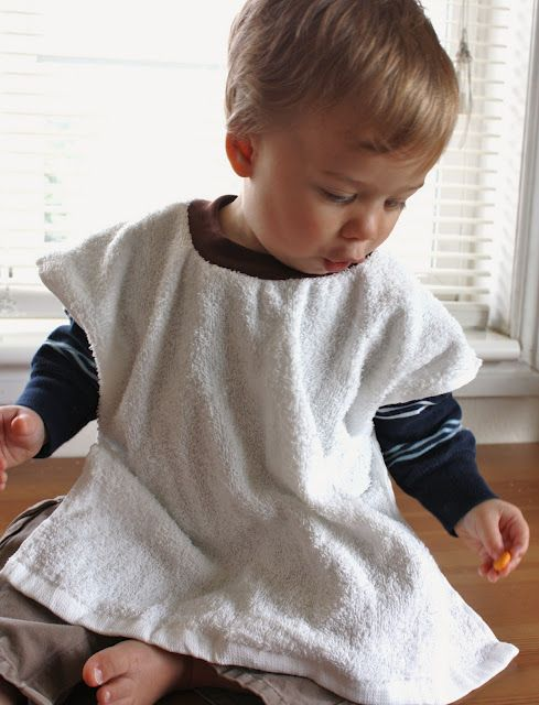 Toddler Baby Pullover Pull Over Bibs Terry Cloth Food Feeding Apron Napkin Nappy