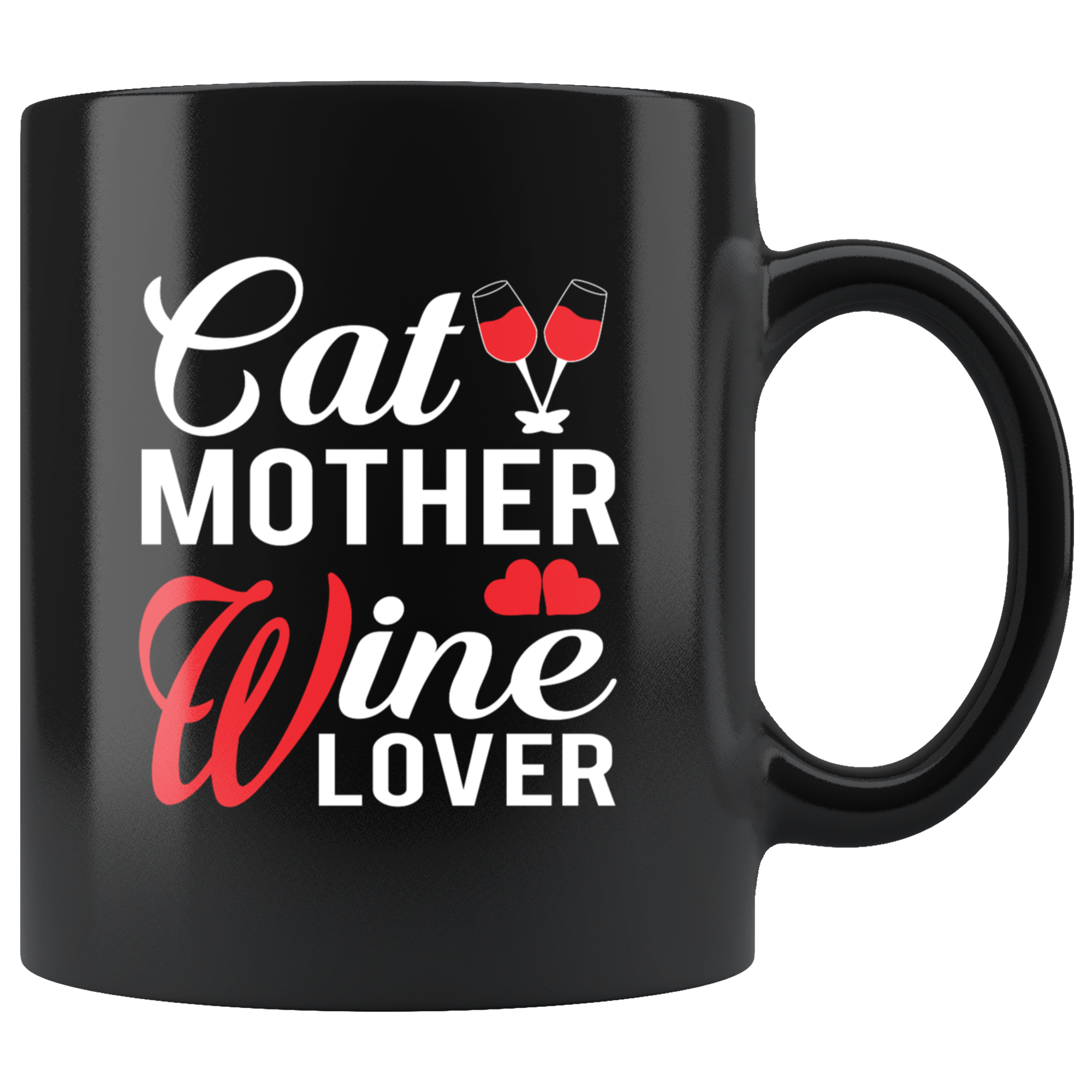Cat Mother Wine Lover Coffee Mug Funny Gift Idea For