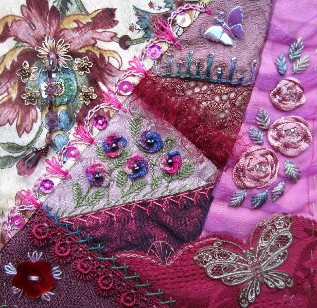 I ? crazy quilting . . . My own page in the Summer Dreams DYB. By Margreet from Holland.