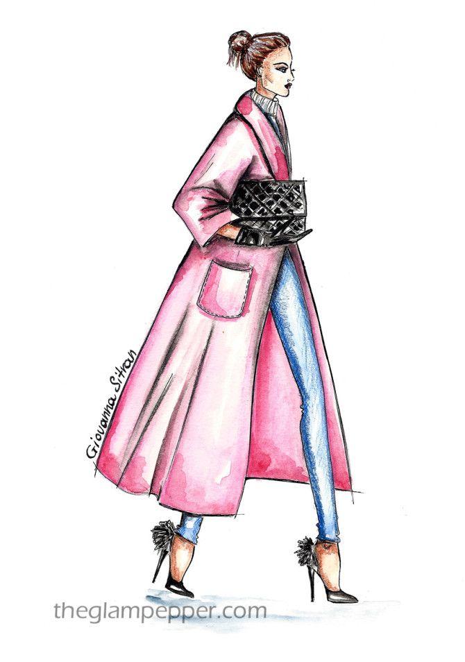 Tendenze moda: il cappotto   Bocetos de moda y Bocetos