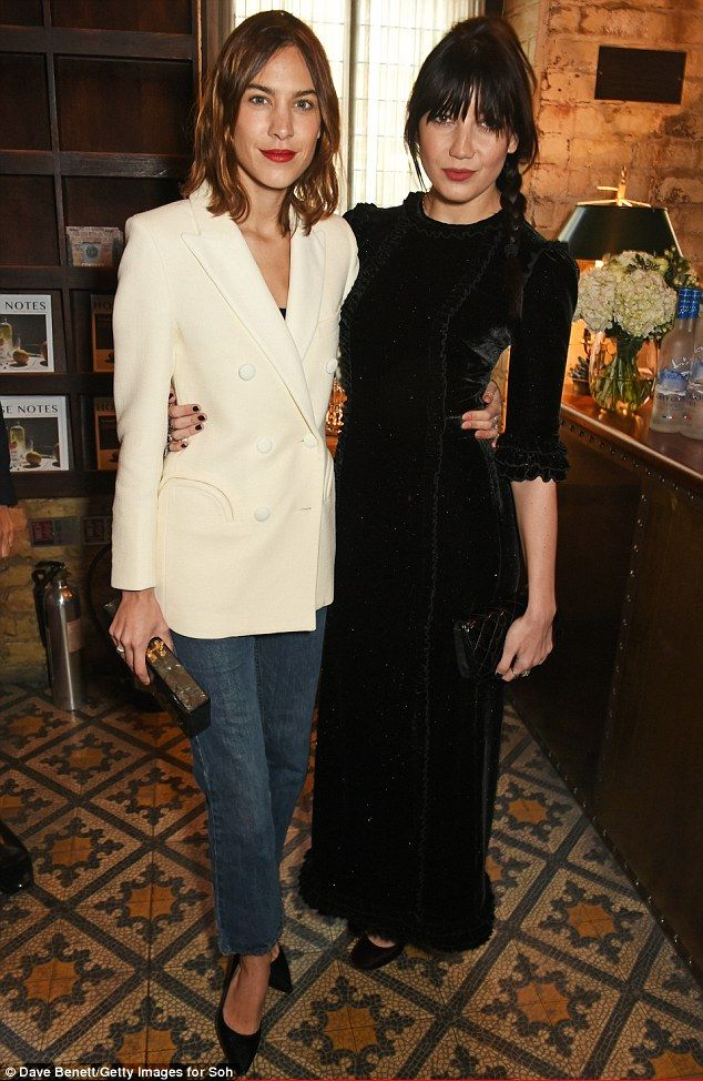 eafb4806892f Fashionable friends  Both Alexa Chung and Daisy Lowe were at the top of  their style game as they attended the The Fashion Awards nominees  lunch