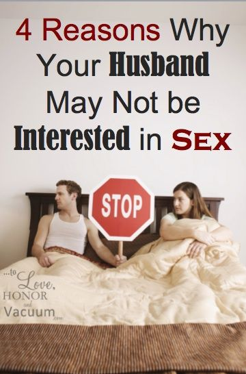 Why is my husband not interested in sex