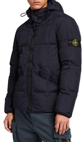 Stone Island Men S Quilted Down Hooded Jacket Mensjackets Stone Island Jacket Hooded Jacket Men
