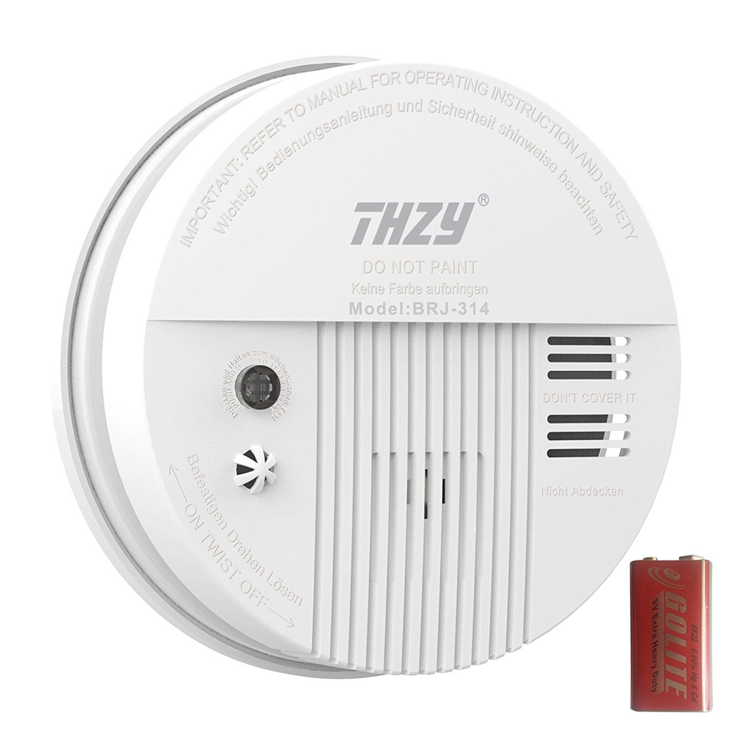 Smoke Carbon Monoxide Alarm Thzy Battery Operated Carbon