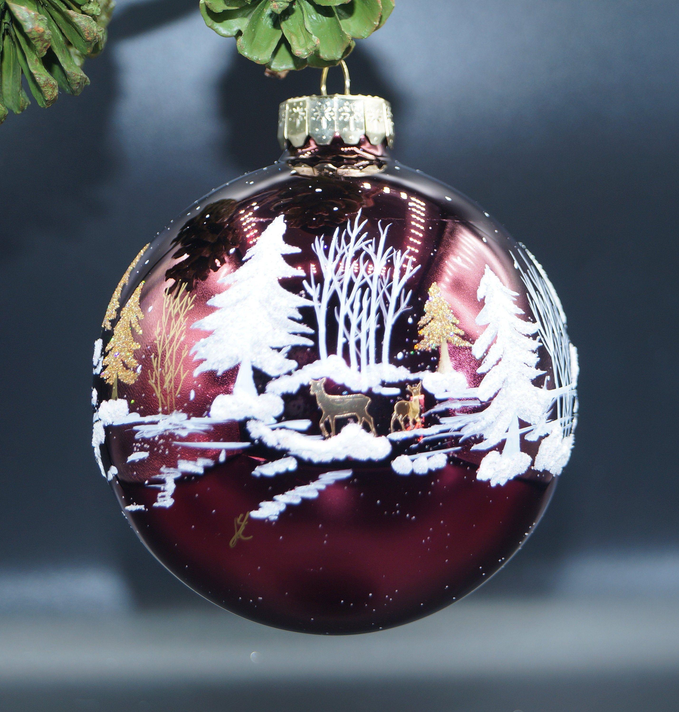 Sale Colorado Snow Scene Church Ornament Woodland Ornament Etsy Woodland Ornaments Painted Christmas Ornaments Snow Scenes