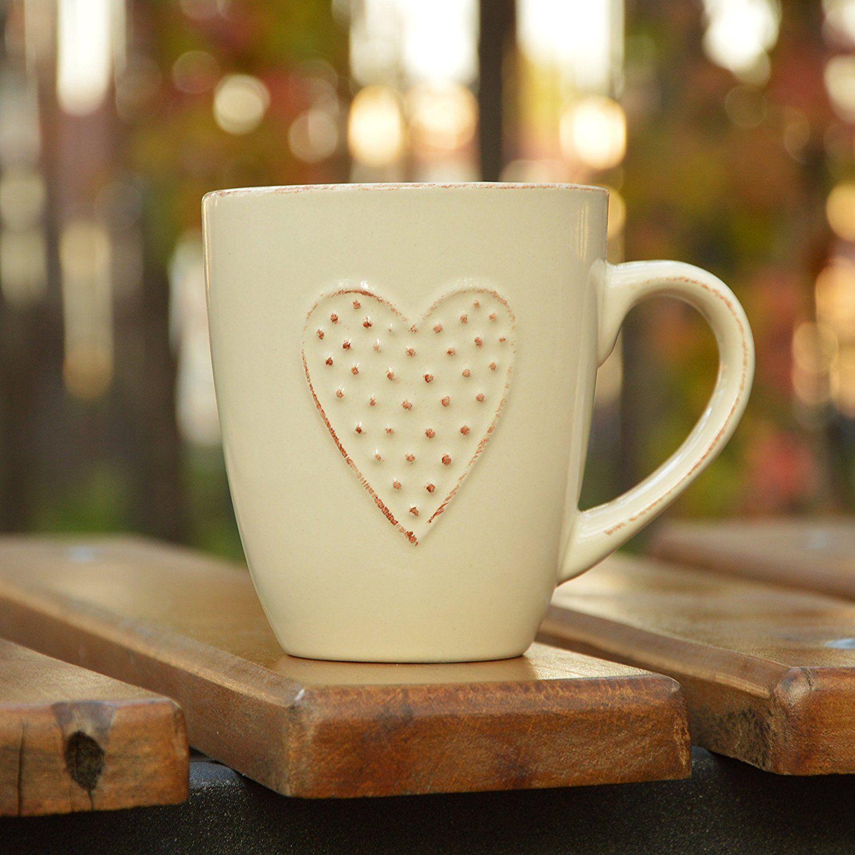 Heart Ceramic Mug for Her by Govinda Crafts