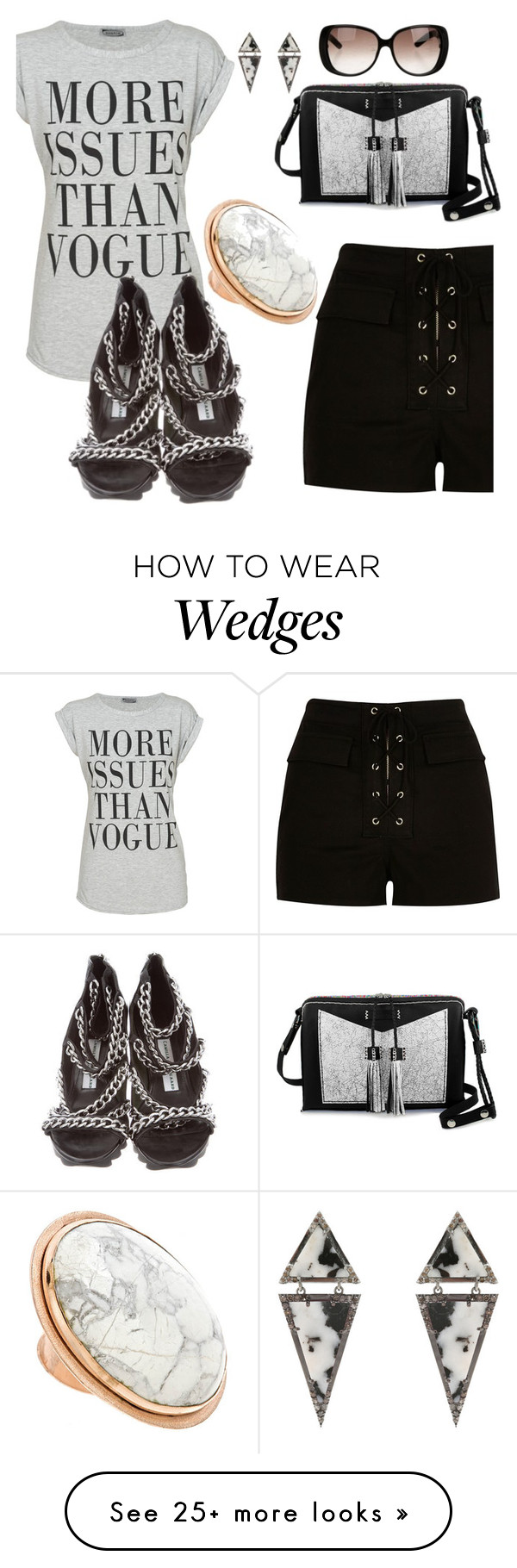 """""""MORE ISSUES THAN VOGUE"""" by deborah-calton on Polyvore featuring River Island, Carianne Moore, Gucci, ADORNIA, Camilla Skovgaard and Bita Pourtavoosi"""